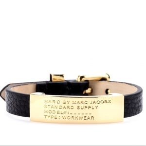 Marc Jacobs Leather Logo Bracelet